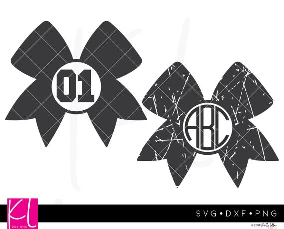 clip royalty free stock Monogram cut files with. Svg bow cheer