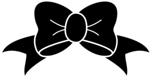 clipart black and white stock Svg bow hair.  collection of clipart