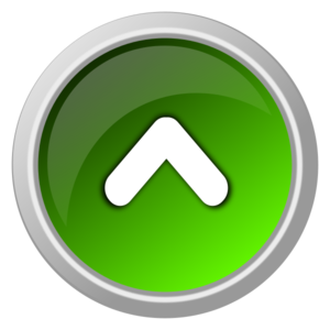 image library stock V clip double button. Edited green arrow up