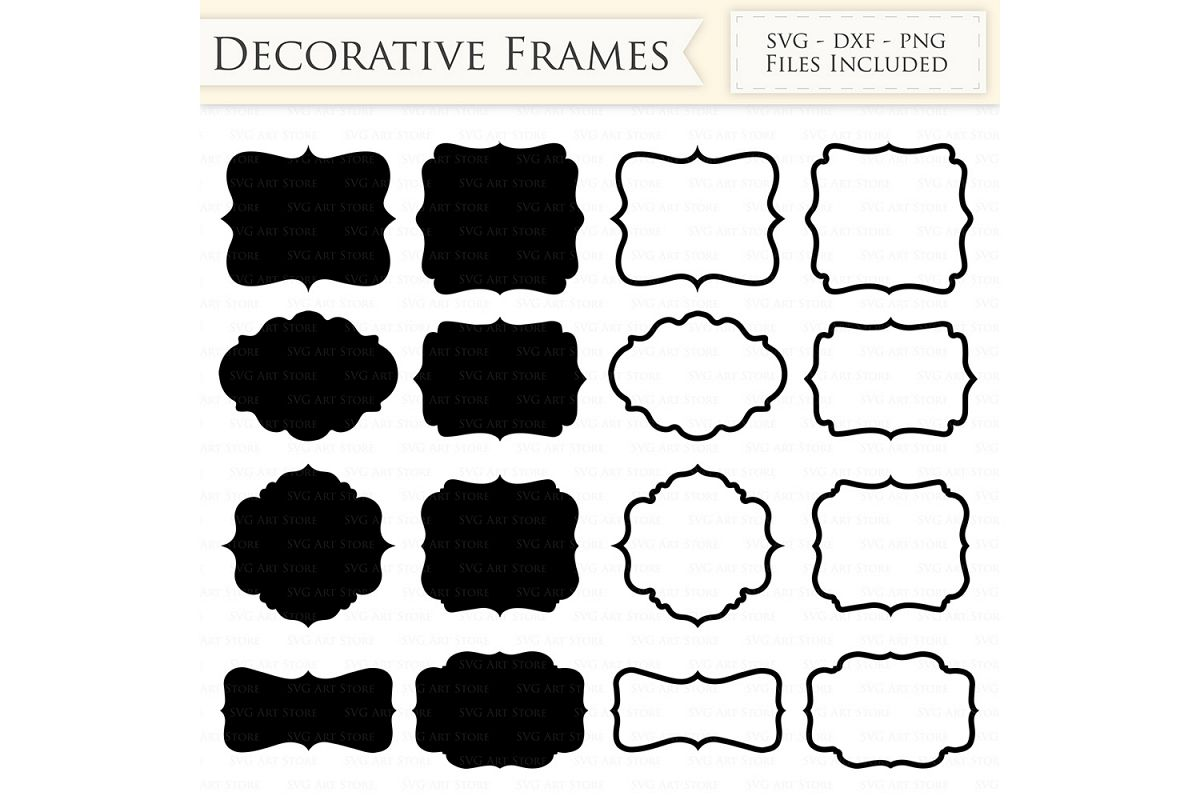 clip art transparent library Decorative frames files outline. Svg frame