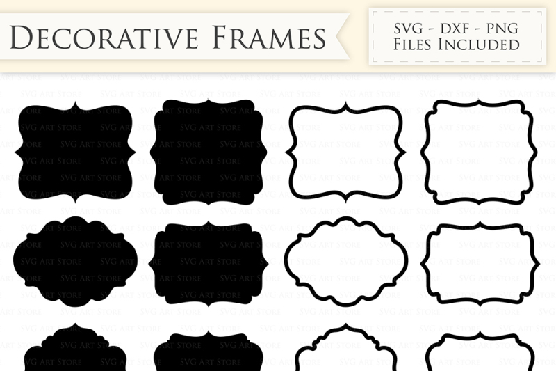 clip art download Decorative frames files outline. Svg frame