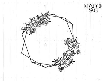 jpg freeuse download Flower frame svg