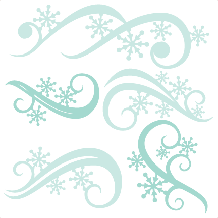 png freeuse download Winter Flourishes SVG scrapbook title winter svg cut file snowflake