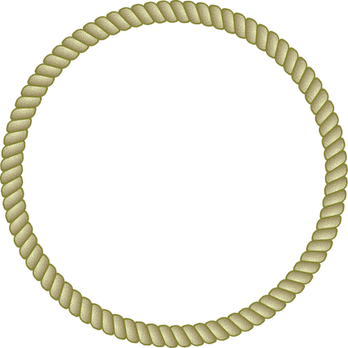 svg freeuse library Round rope frame vector image