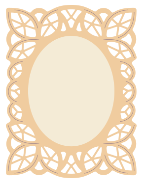vector freeuse stock Battenburg Style Lace Frame