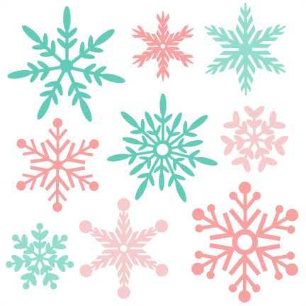 banner Snowflake Winter SVG scrapbook cut file cute clipart files for