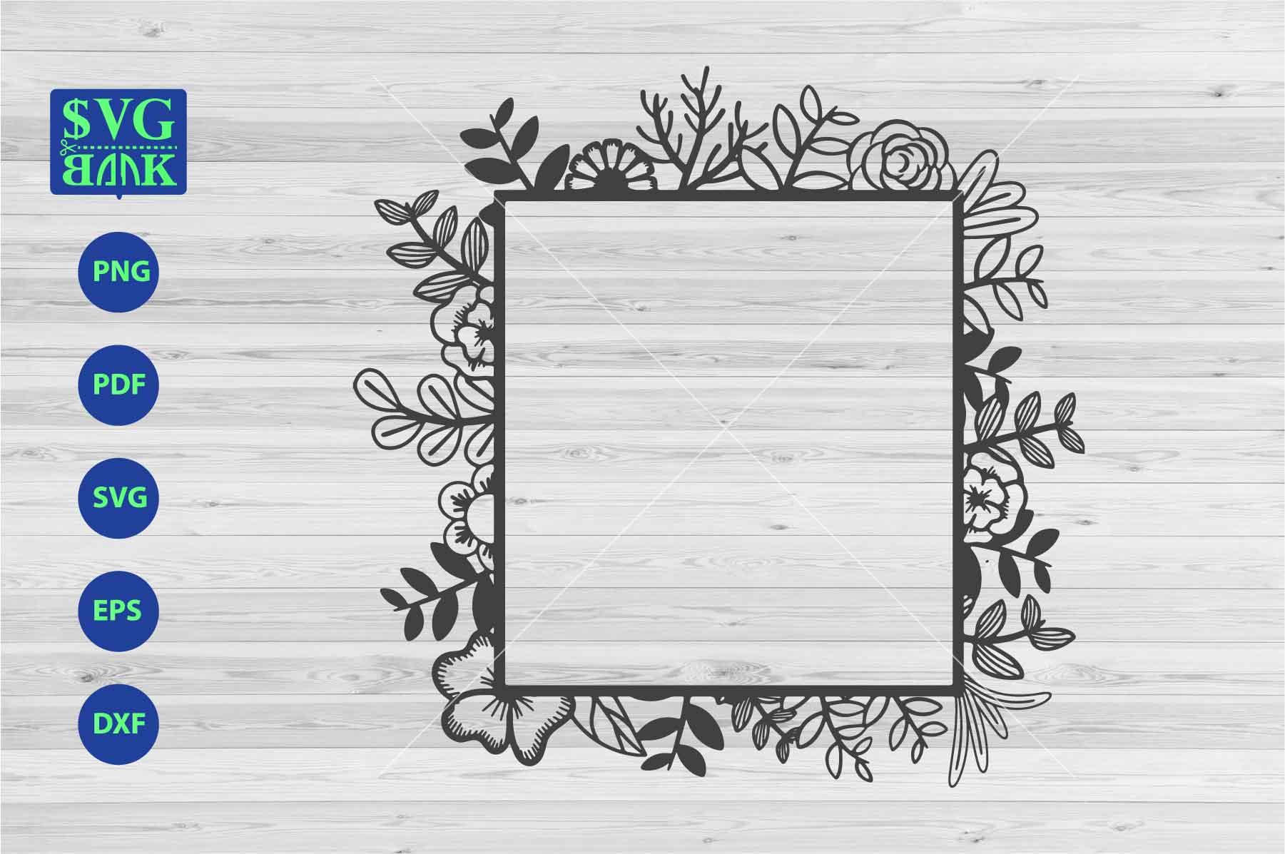 clip art library library Frame monogram rectangular with. Svg frames square