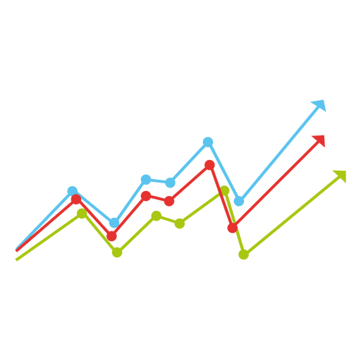 clip art Growing colorful lines chart