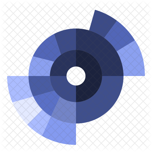 picture black and white Sunburst Chart Icon