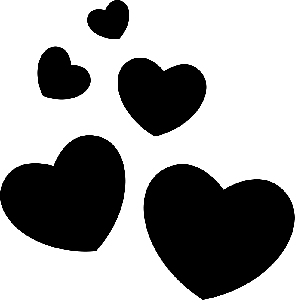 banner black and white Hearts Group Svg Png Icon Free Download