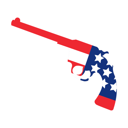 vector library America flag print gun