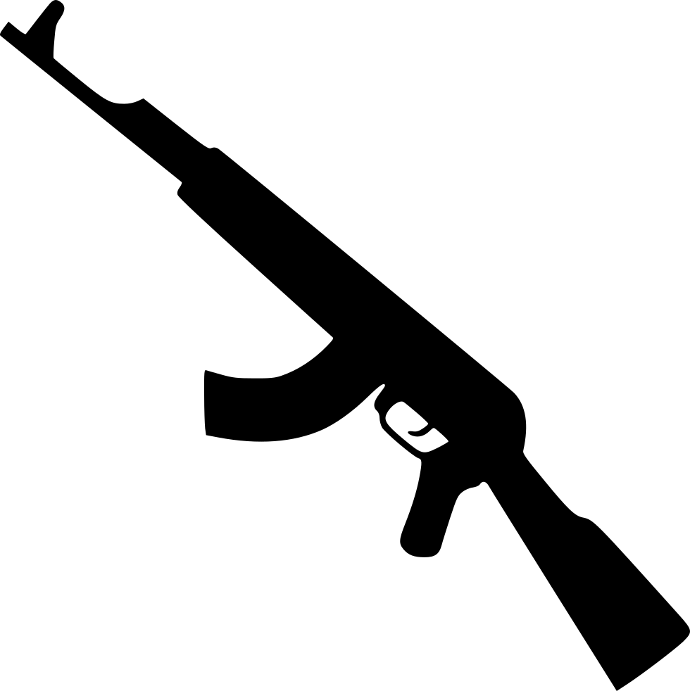 vector black and white library Kalashnikov Gun Svg Png Icon Free Download