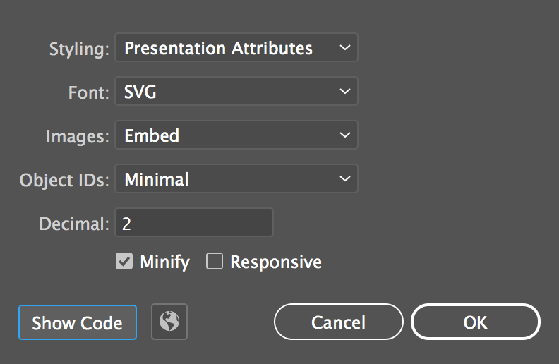 svg stock How to export svgs. Using svg illustrator