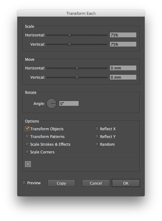 vector freeuse How to resize multiple icons