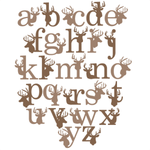 png transparent Deer Alphabet SVG scrapbook title winter svg cut file snowflake svg