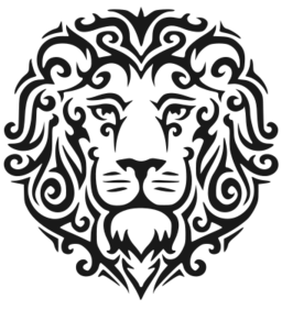 image library library Lion Face Curls Tattoo SVG Picture