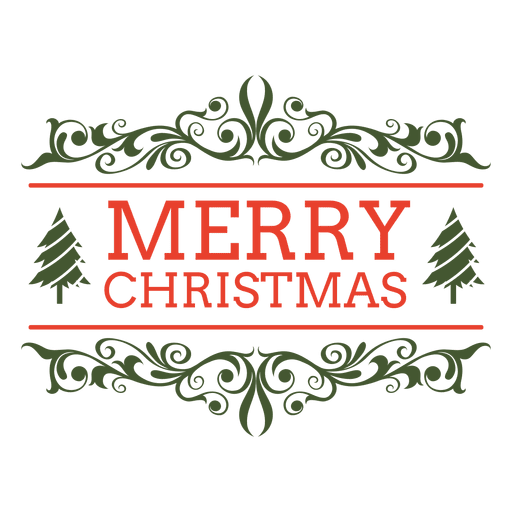image transparent stock Merry christmas ornamented label
