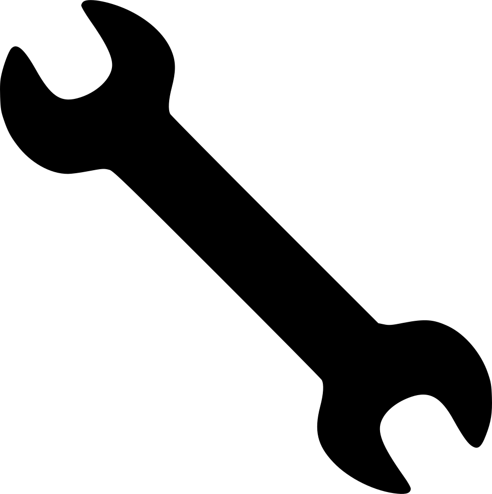 vector free stock Wrench settings tool png. Tools svg