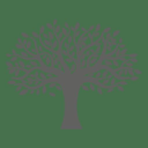 jpg transparent library Flat tree silhouette