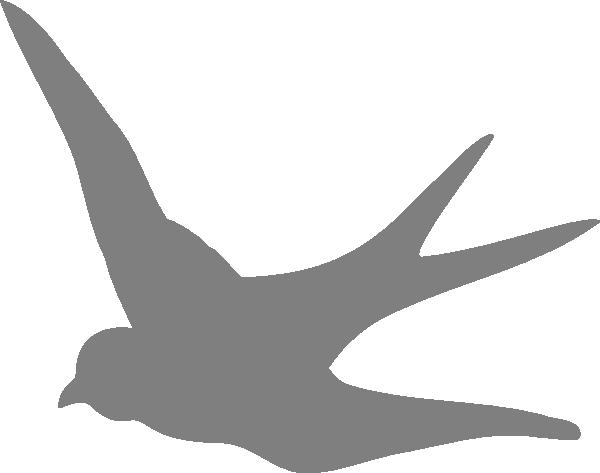 image free download Dark Gray Swallow Clip Art at Clker