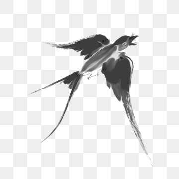 clip art black and white stock Swallow Bird Png