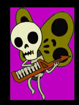 clip stock Skeleton Butterfly