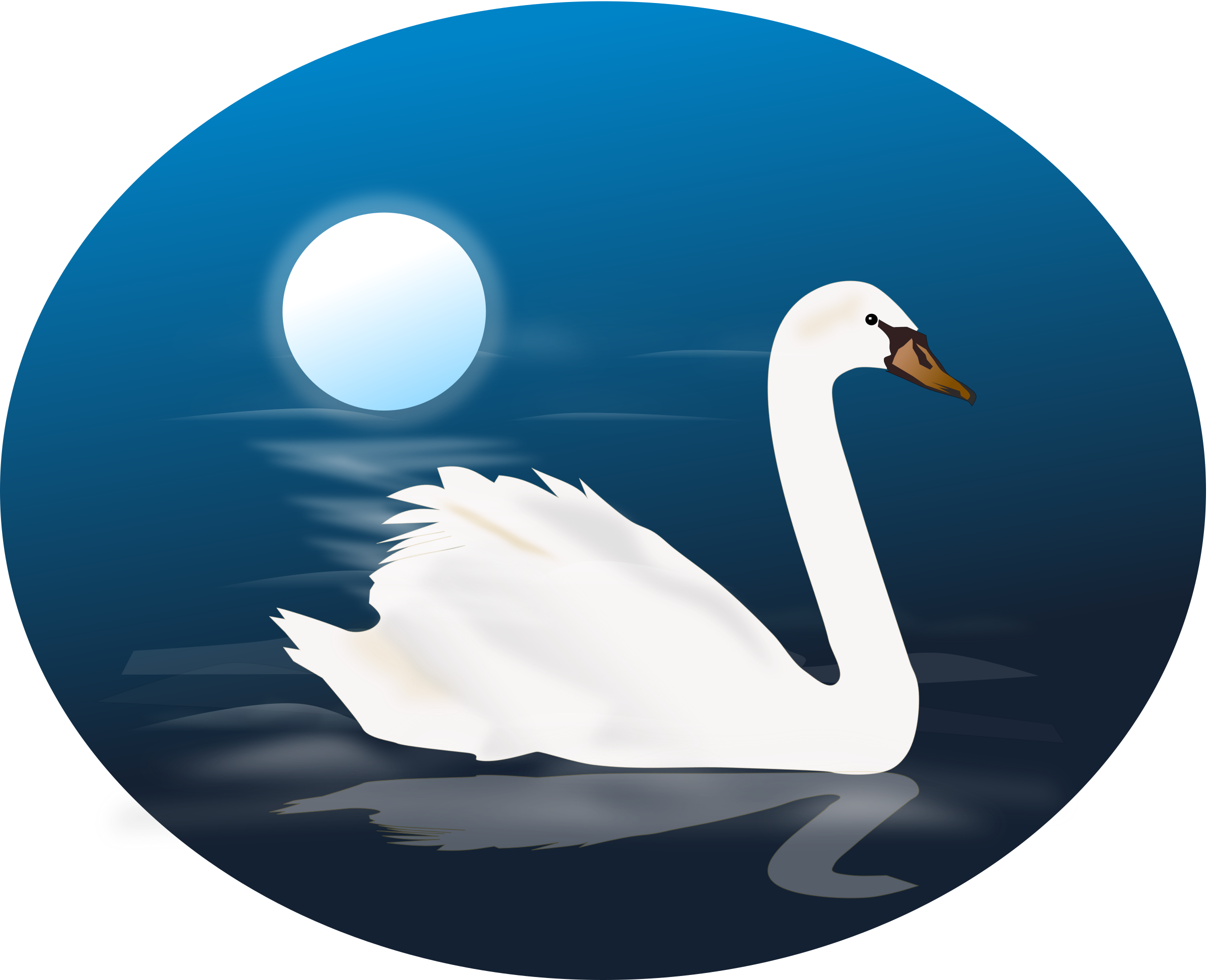 png library download Swan clipart. Blue photo transparentpng