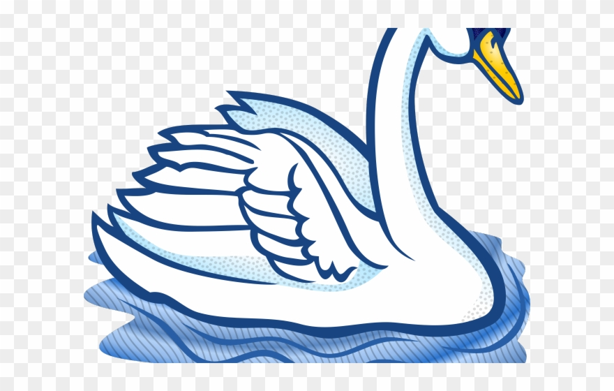 png freeuse stock Trumpeter black and white. Swan clipart