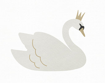 graphic royalty free stock Etsy . Swan clipart