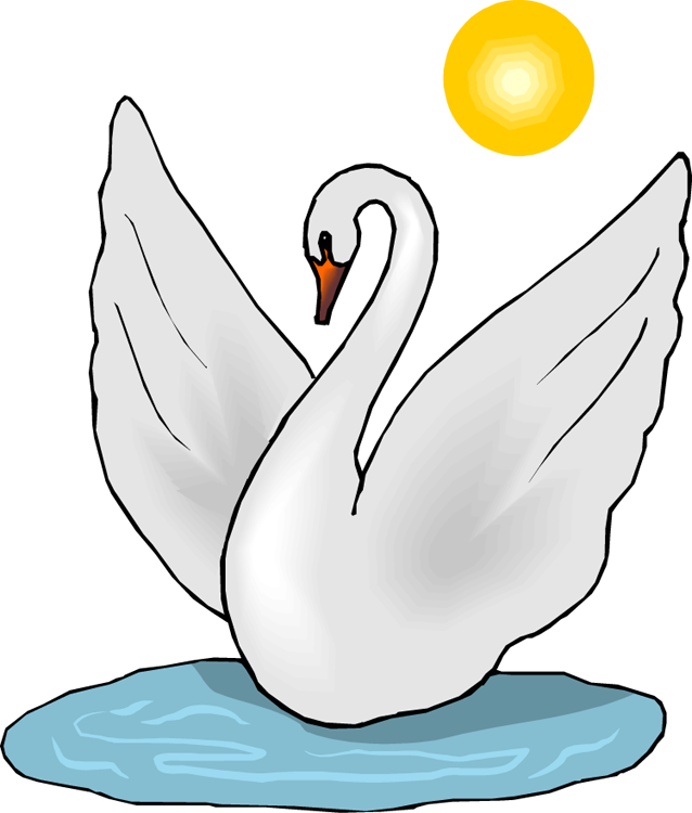 jpg stock Free clipartix. Swan clipart