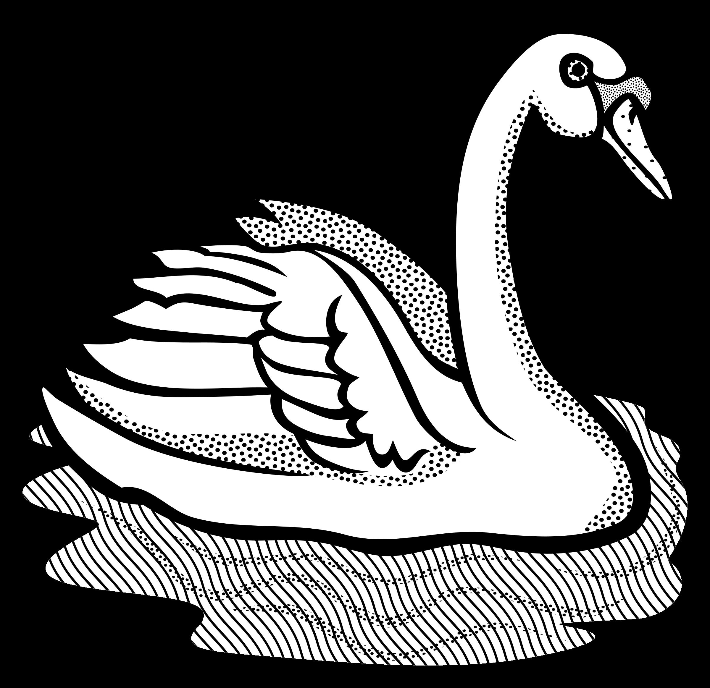 vector stock Swan line at getdrawings. Swans drawing.