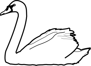 vector download File meuble h raldique. Swans drawing cygne