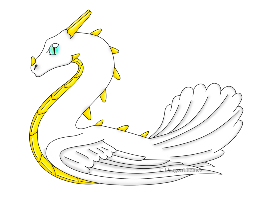 banner transparent download Swan by melydion on. Swans drawing dragon