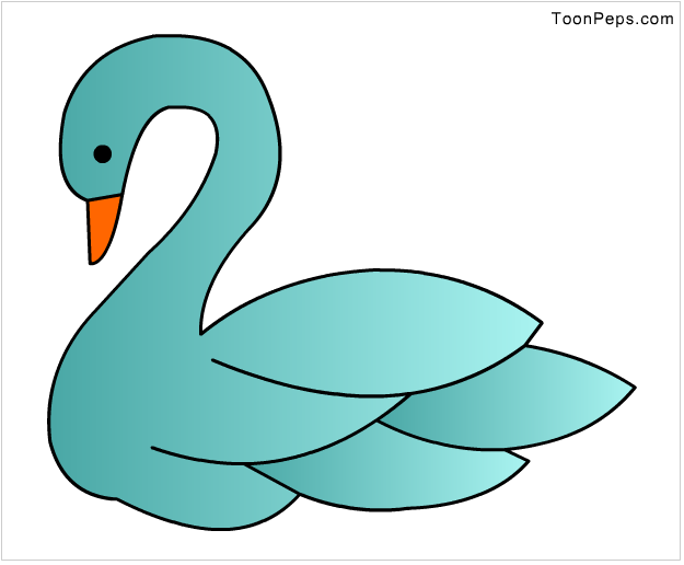 image freeuse stock Swan Drawing For Kids How to draw swan for kids step by step