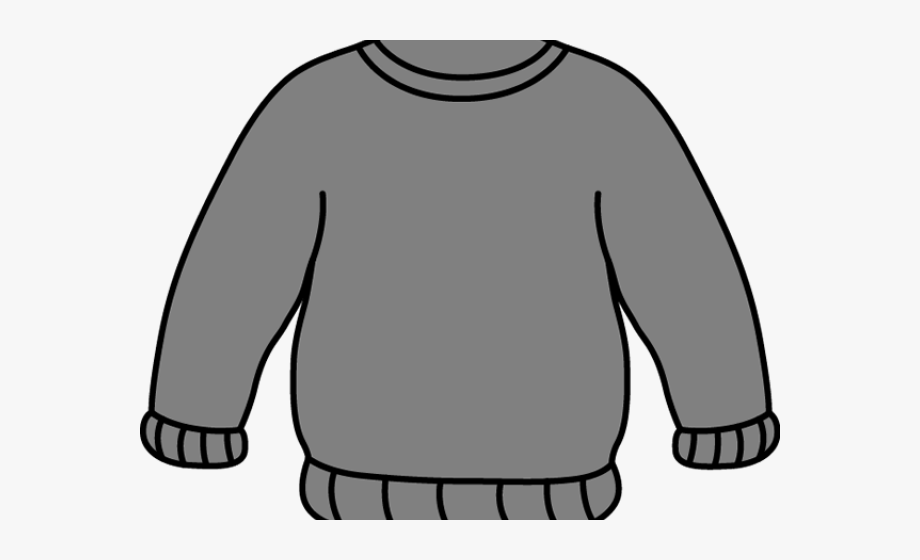 graphic freeuse download Gray clothes black and. Sweater clipart