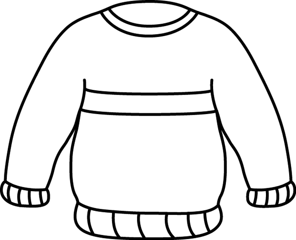 svg black and white Sweater clipart black and white. Clip art images striped