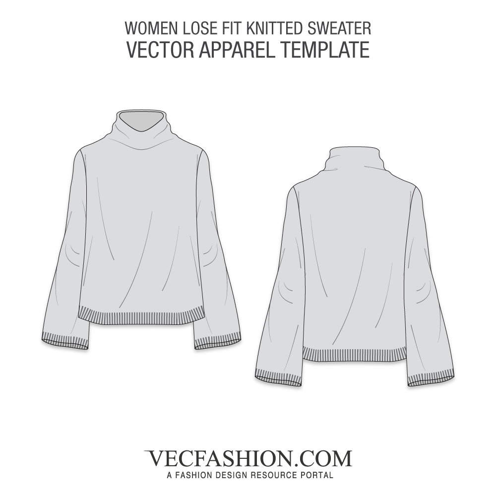 jpg freeuse download Vector clothing pattern. Women knitted sweater vecfashion