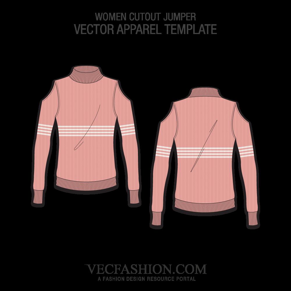 clip sweater vector technical flat #116133888