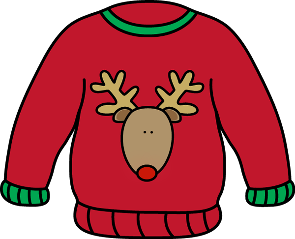 clip library Cardigan image group red. Christmas sweater clipart
