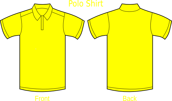 picture library library Polo Shirt Yellow Clip Art at Clker