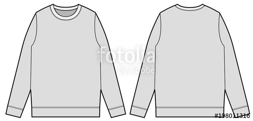 picture free Sweatshirt Top fashion flat technical drawing template