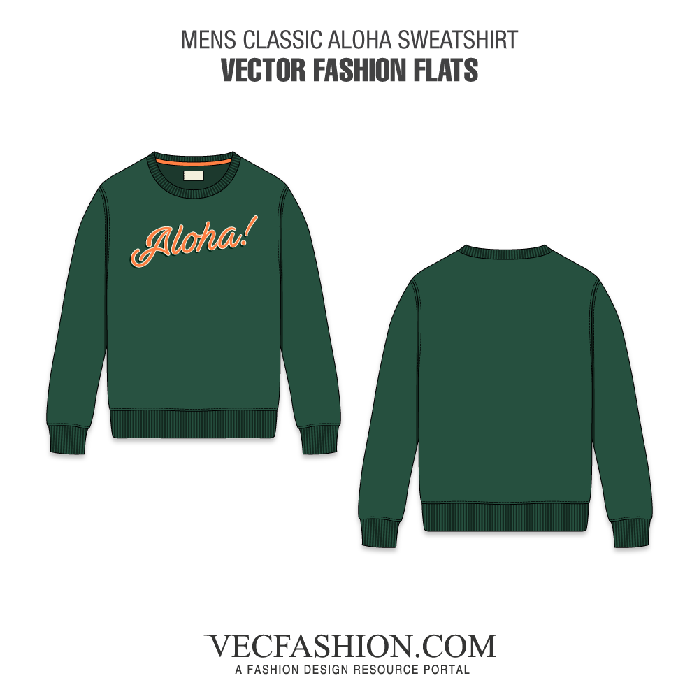 banner transparent download Mens Classic Aloha Sweatshirt
