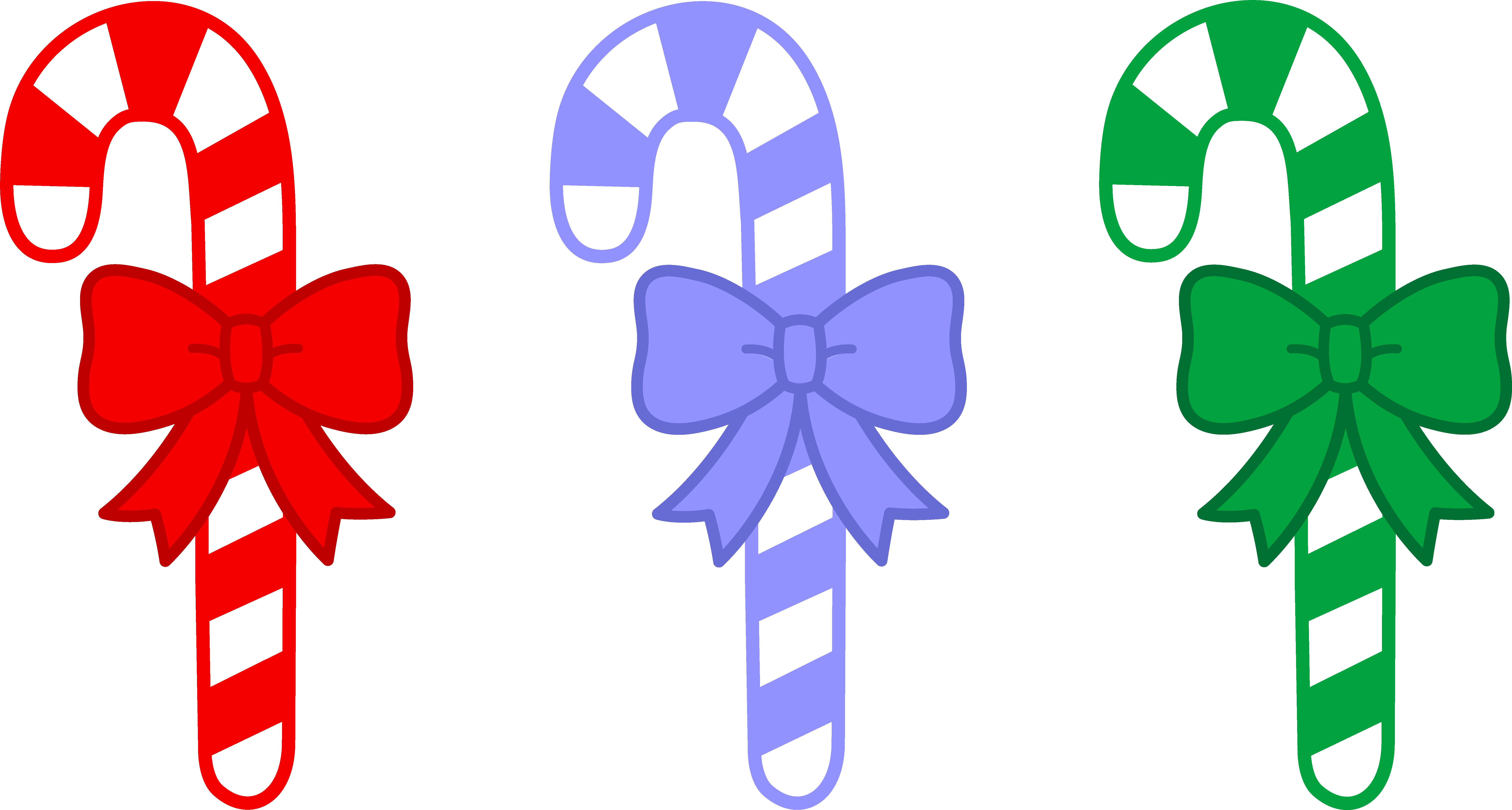 picture library download Cane clipart three. Candy canes with bows.