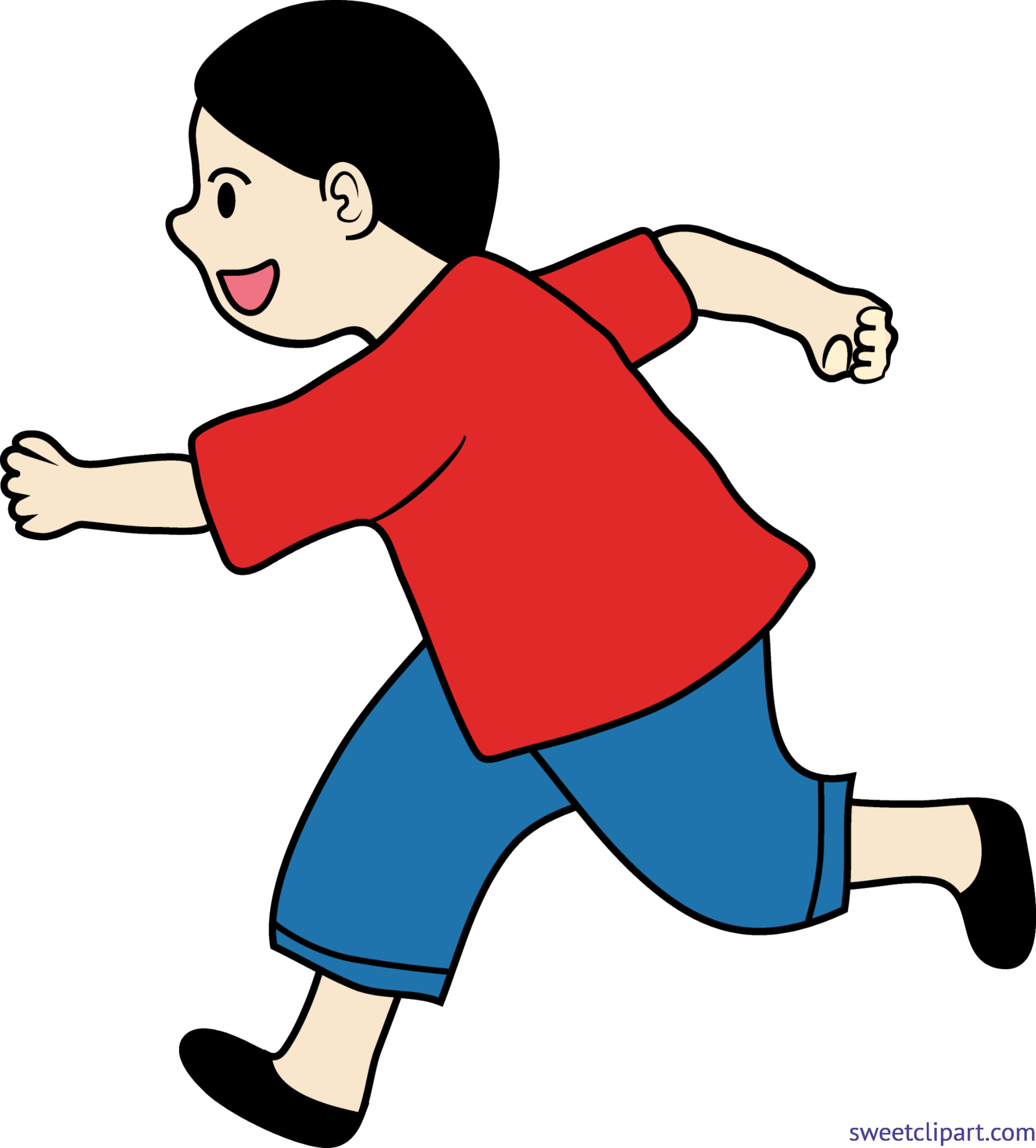picture library Clip art sweet. Kid running clipart