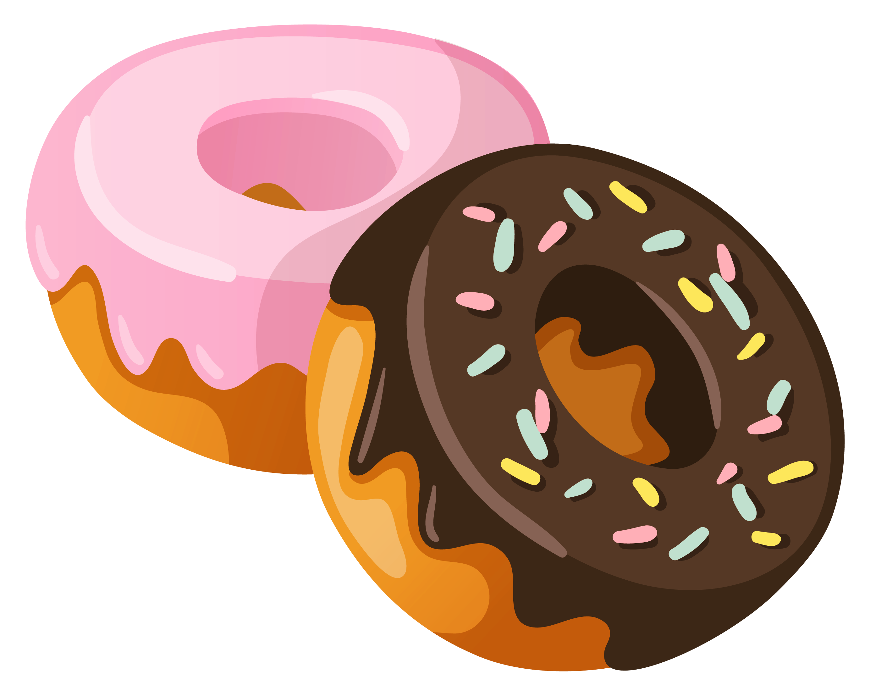 black and white download Donuts png picture gallery. Sweets clipart