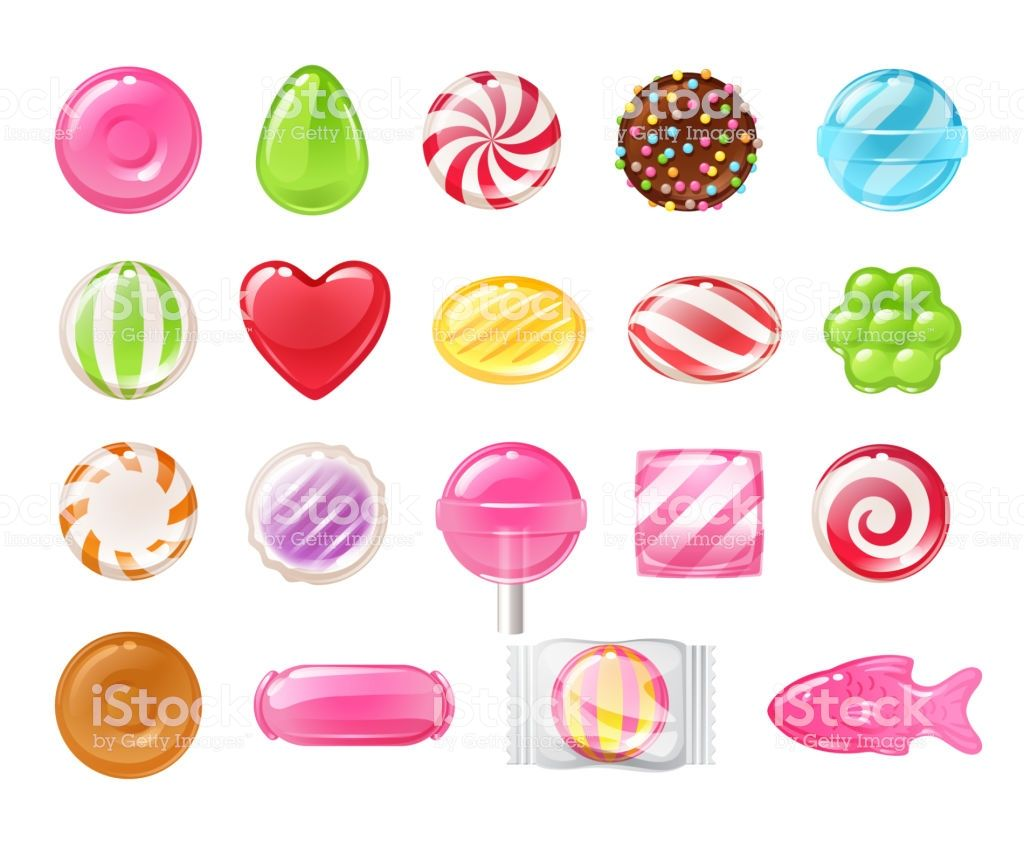 graphic library library Set of sweets on. Vector candy hard