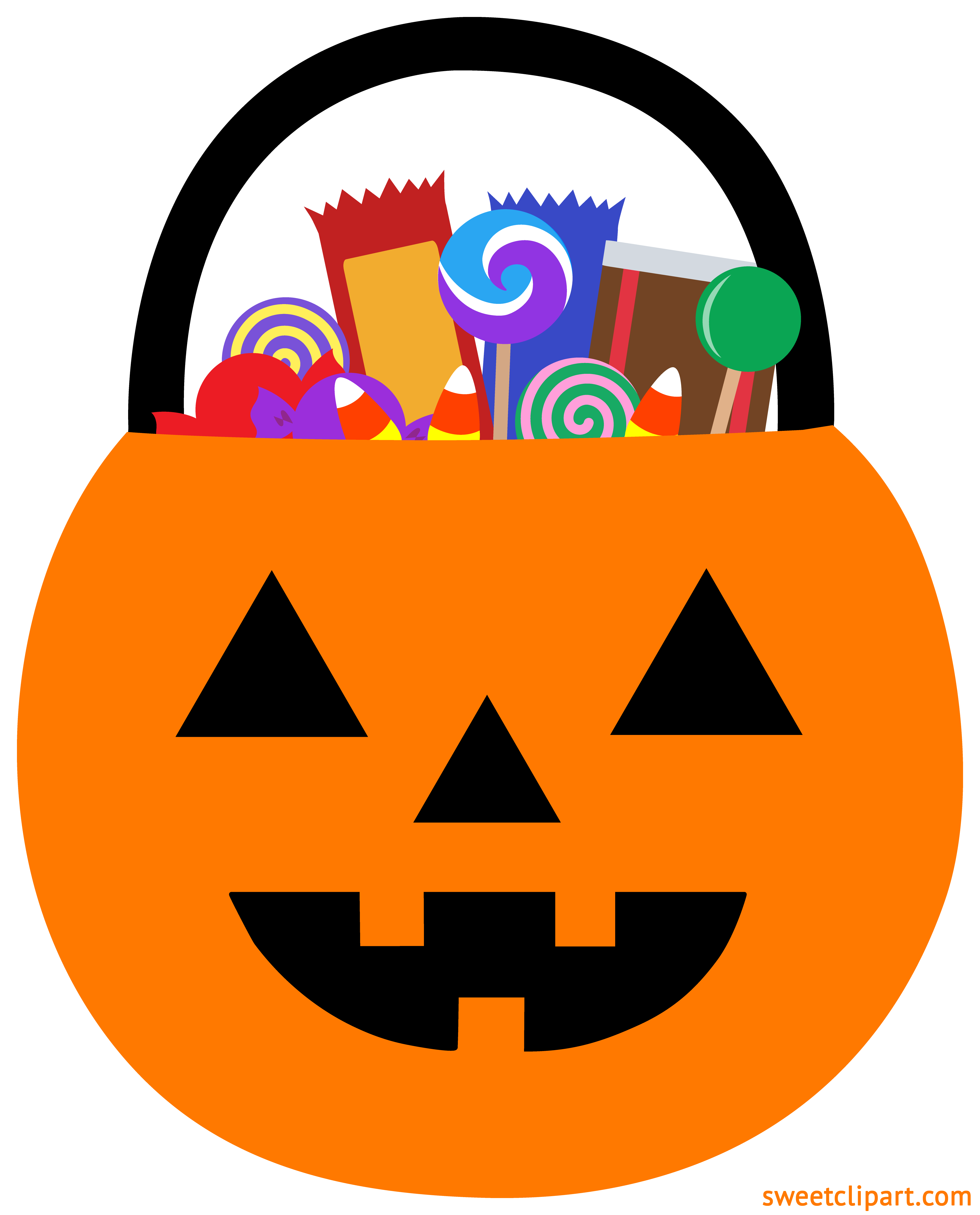 svg free download Halloween Pumpkin Pail With Candy