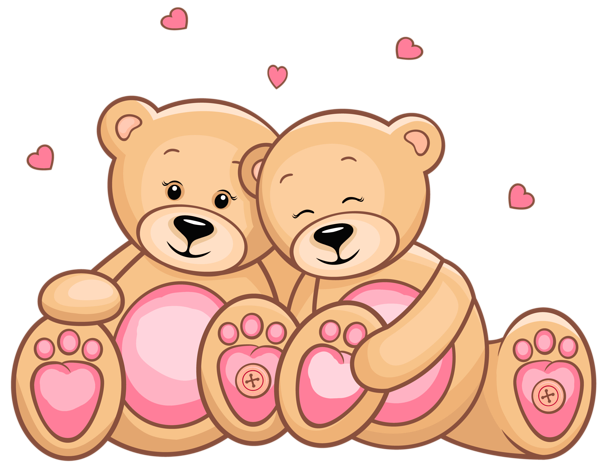 vector library stock Valentines Day Teddy Couple PNG Clipart Picture