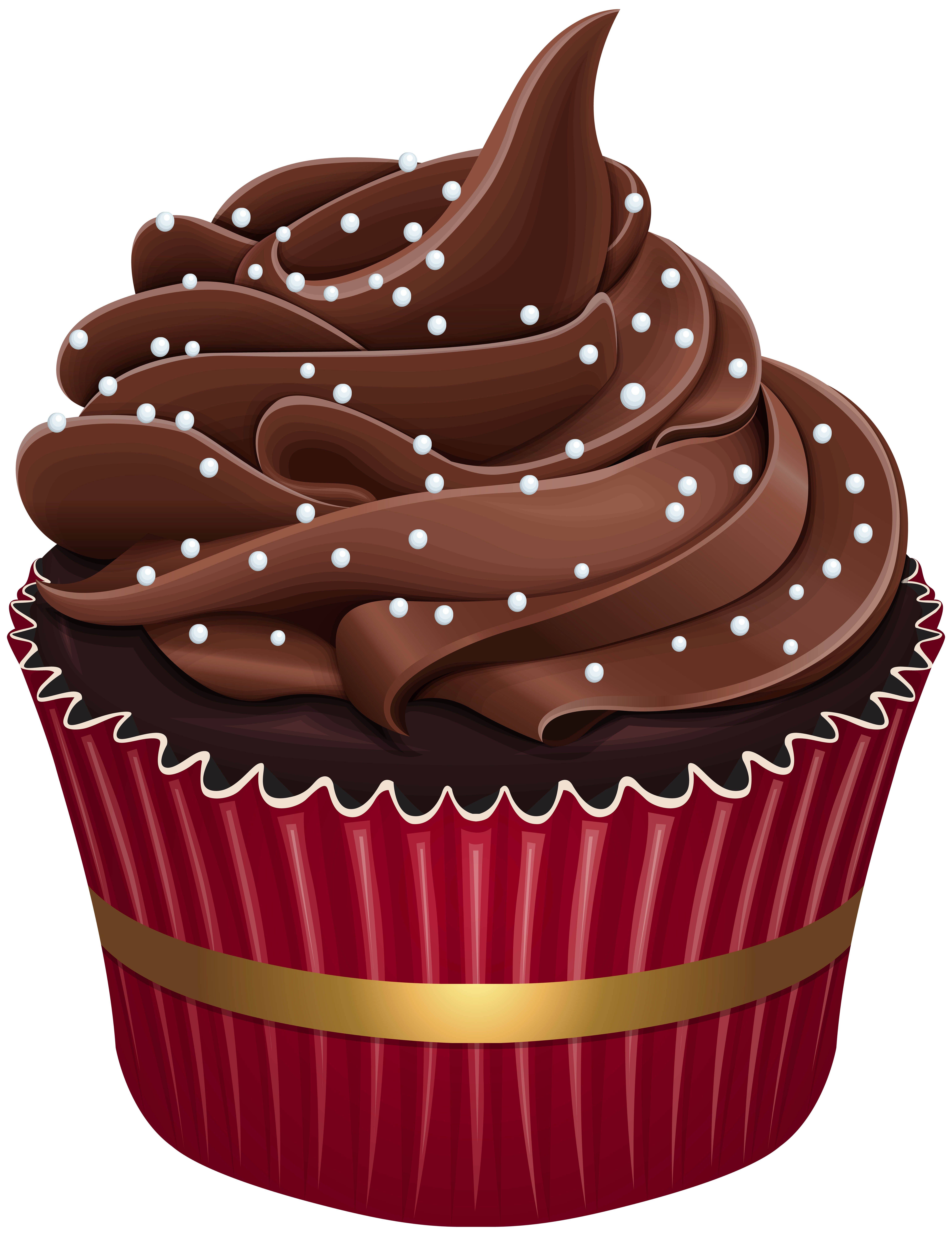 banner free Cupcake png clip art. Brown clipart muffin