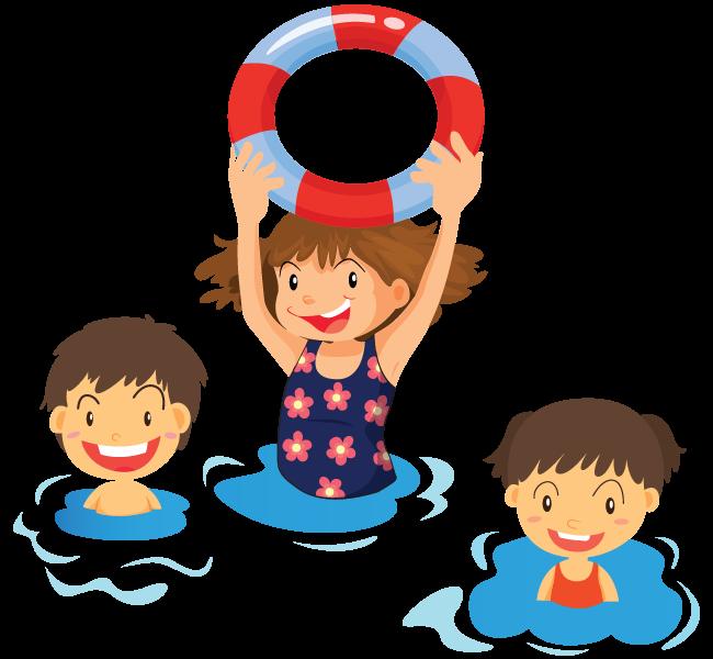 banner freeuse Family Clipart swim